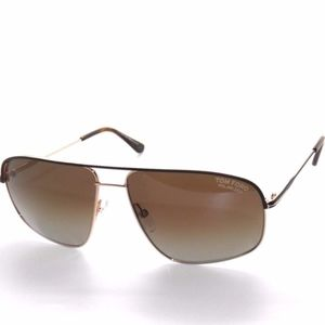 TOM FORD JUSTIN TF467 BROWN POLARIZED SUNGLASSES